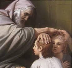 Joseph's children blessed by Jacob