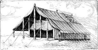 Ark of God in a tent