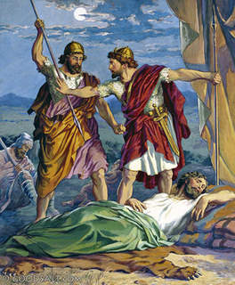 David Spares Saul's Life Again