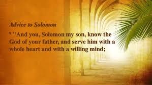 David's Advice to Solomon