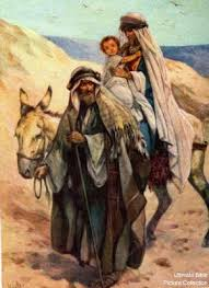 Mary, Joseph and Jesus go to Egypt