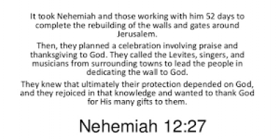 Nehemiah's Dedication