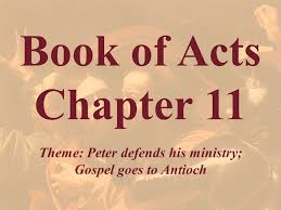 Peter Defended His Actions in Antioch