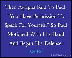 King Agrippa Hears Paul's Defense